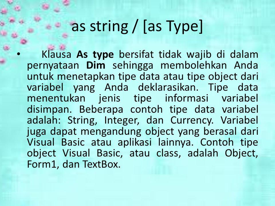 as string / [as Type]